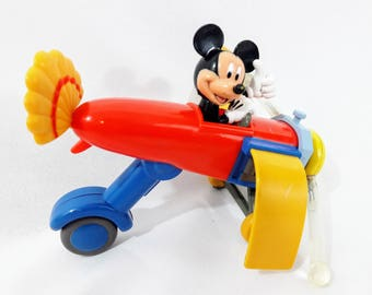 Vintage Mickey Mouse Airplane light up toy