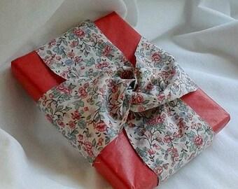 Up Cycled Ribbon /  Sheet Fabric Ribbon / Mother's Day Gift / Vintage  Sheet / 2 Yards