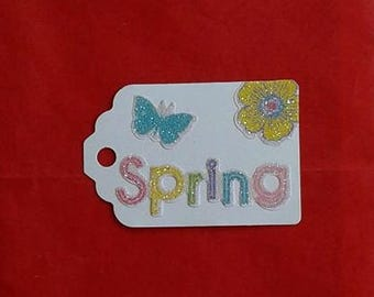Spring / Spring Gift Tag / Flowers / Butterfly Gift Tags / Recycled / Up Cycled / Set of 3