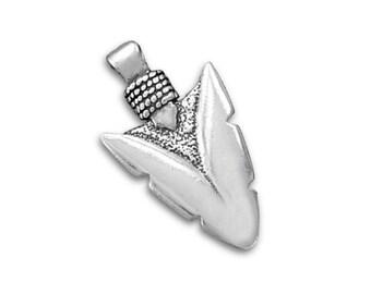 Silver arrowhead etsy sterling silver arrowhead charm pendant arrow head mozeypictures Gallery