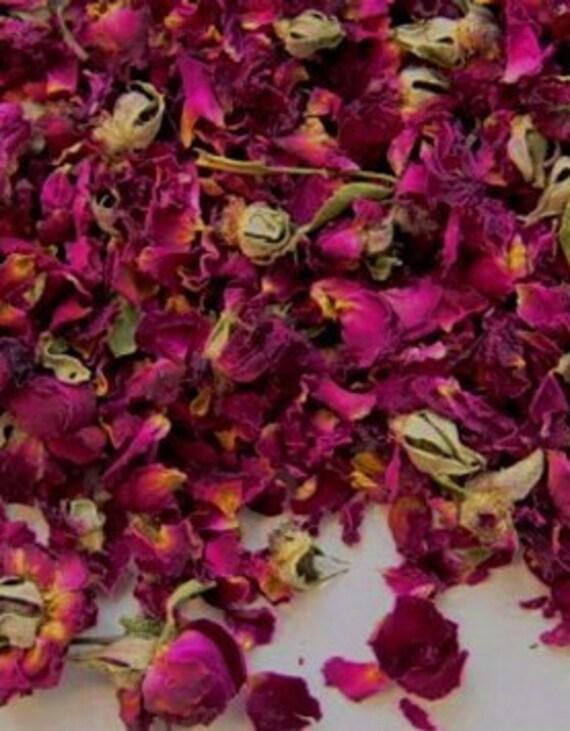1lb Dried ROSE Petal Biodegradable Wedding Toss Confetti Organic 100% Natural Pink Rose Petal Bud Herb Favor Sachet