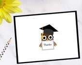 Wise Owl Graduation Thank You Notes