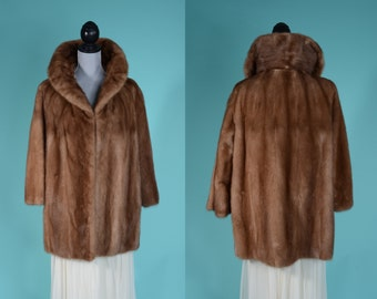 Vintage Mink Fur Wedding Coat - 1960s Stroller Length Fur - Winter Bridal Fashions
