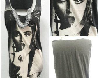 Madonna Lollipop lady Singlet Tank Top T-Shirt Mini Dress