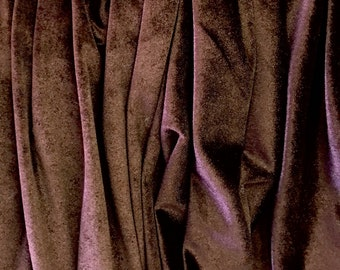 4-Way Stretch Velvet Fabric - Chocolate Brown
