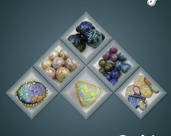 """The Miracle called """"Translucent clay"""", tutorial, cabochons, faux opals, beads, techniques, jewelry, art, handmade, polymer clay, pendants"""