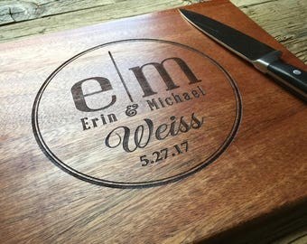 Personalized Cutting Board Engraved Cutting Board, Personalized Wedding Gift, Wedding Gift, Housewarming Gift, Anniversary Gift