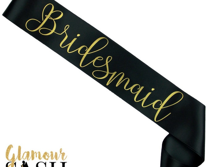Bridesmaid Sash - You Choose Colors - Bachelorette Sash - Bridal Party - Future Mrs. - Personalized - Custom - Favor - Gift - Bride