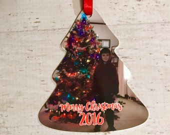 Christmas Tree Custom Personalized Ornament with Photo