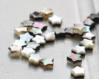 One Full Strand / Shell / Star / Semiprecious Stone / Gemstone / 6mm (26)