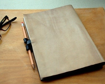 ON SALE Calendar, Personal Organizer, reusable leather bound weekly planner with inside pockets