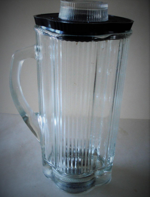 Blenders With Glass Jars ~ Vintage waring blender glass jar cups lid lids cap model