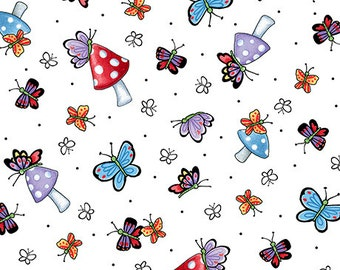 Mary's Fairies, Butterflies, Quilting Treasures Fabric, 1/2 Yard
