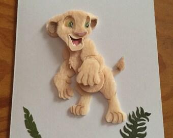 Nala (lion king) Birthday card