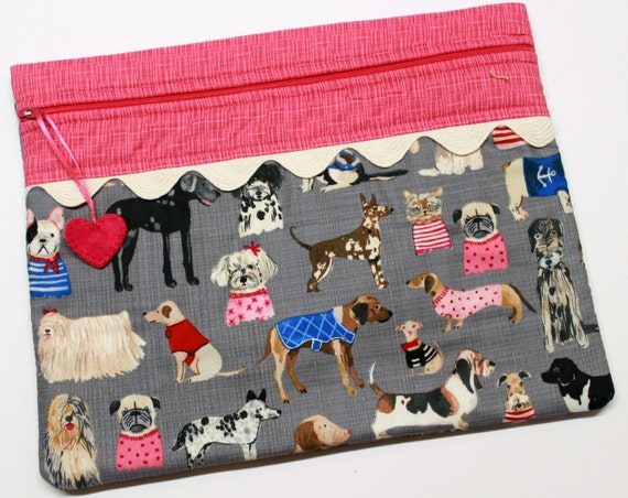 Haute Dog Cross Stitch Embroidery Project Bag