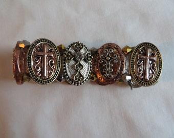 Adjustable Beaded Cross Bracelet, bracelet, cross, beaded, adjustable