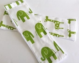 Set of 2 Animal Print Burp Cloths - Gender Neutral Baby Gift