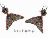 "The Geometric Warped Square ""Mosaic Drop Earrings"" Beading Kit"