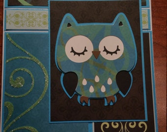 5 x 7 OWL card * Birthday * New Baby * Mother's Day * Wedding * Anniversary * Graduation * Congratulations * Thank You * Get Well * Sympathy