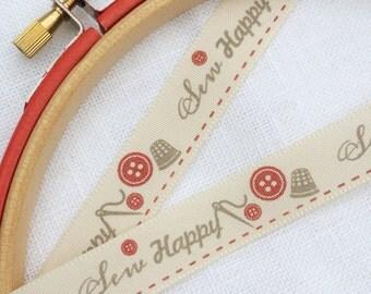 Sew Happy, craft ribbon