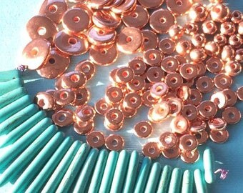 Two hundred 8mm copper washers