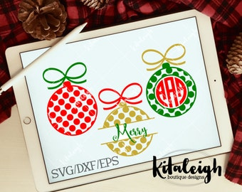 Polka Dot Ornament Monogram Frames .DXF/.SVG/.EPS Files for use with your Silhouette Studio Software
