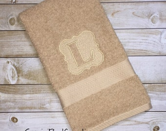 "Embossed Embroidered Hand and Bath Towel set 27"" x 52"" - two of each"