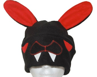 Vampire Bunny Fleece Hat