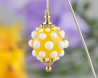 Lemon Yellow & White Pendant