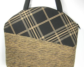 Black and Brown Plaid, Caledonia Purse