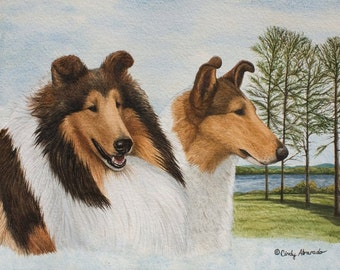 "New Limited Edition Collie Print ""Memories of Sunnybank"" by Cindy Alvarado"