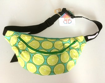 Sample sale lime fabric bumbag fannypack