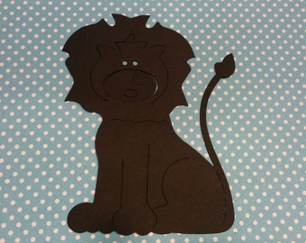 Lion Die Cut 10CT- Die Cut- Cutout- Custom Colors Available