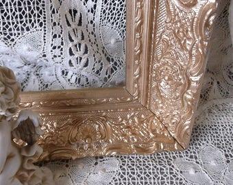 Vintage Gesso Ornate Wood frame, Large, mid century, Gold