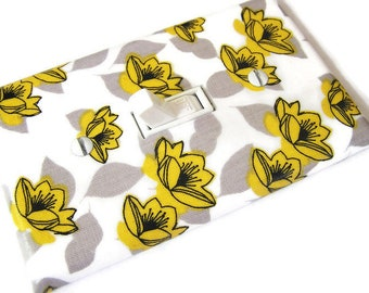 LOTUS BLOSSOMS FLOWERS Light Switch Cover Plate Switchplate Tropical Decor