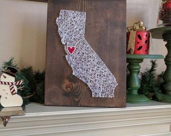 California custom string art