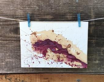 Citadel - Original Wine Watercolor - 5inx7in
