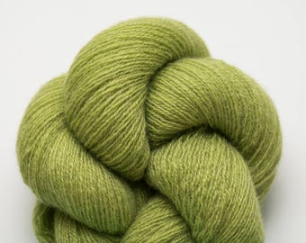 Chartreuse Recycled Cashmere Lace Weight Yarn Acid Green, CSH00253