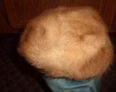 vintage ladies hat genuine mink fur autumn haze