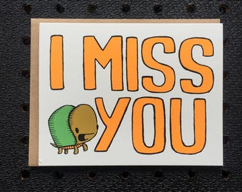 i miss you turtle card, turtle card, thinking of you card, miss you card