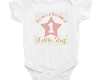 Twinkle Twinkle Little Star First Birthday Infant Bodysuit Onesie, Twinkle Little Star Birthday, Twinkle Twinkle Little Star