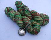 Soft Socks 4 ply Yarn Stripes. Elf
