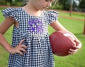 Girls Dress, School Collegiate, Gingham, Football, College | Baby, Toddler, Girl | Free Shipping