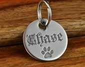 Unique Pet ID Tag, Double Sided Pet Tag, Engraved Stainless Steel Pet Tag, Dog ID Tag -Made in USA