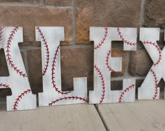 Chevron letters, Bridesmaids gifts, Wedding gifts, Custom distressed wood letters for home decor - 13.5 in wood letters