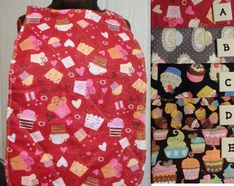 Cupcake Bib, Birthday Bib, Adult Bib, Special Needs Bib, Party Bib, Gifts for Seniors, Gifts for Grandparents - Choose Size & Fabric
