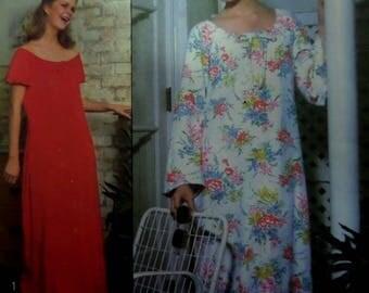 PULLOVER CAFTAN Pattern • Simplicity 8463 • Miss M 14-16 • Raglan Sleeve Caftan • Long Lounging Caftan • Vintage Patterns • WhiletheCatNaps