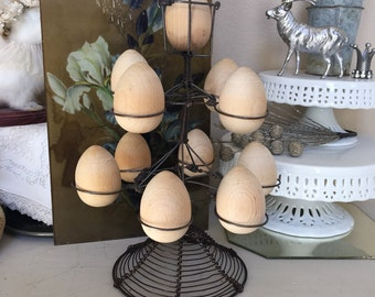 Vintage Wire Egg Caddy Tower