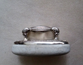1890s Child's Small Sterling Silver Nail Buffer VICTORIAN