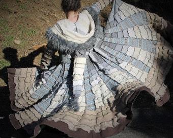 AVAILABLE NOW!!! Icelandic Fair Isle patchwork Pandoras Kloset  Upcycled Sweater Coat